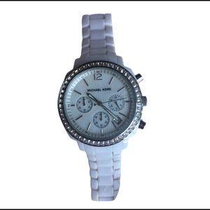 Michael Kors Chronograph Watch Pearl Date Display